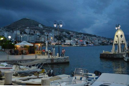 The seaside resort of Saranda - just a stone's throw to Corfu