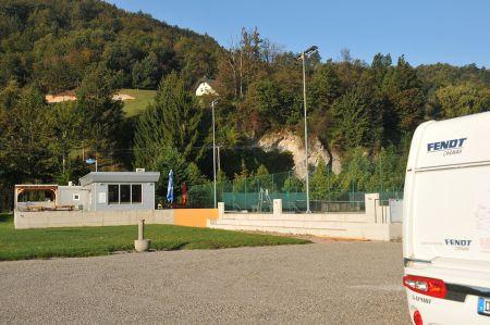 Camperstopp Princeplatz bei Visnja Gora in Slowenien