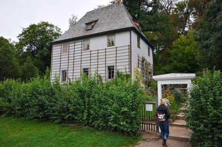 Visit of Goethe's garden house in Weimar