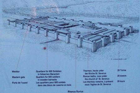 Rekonstruktion des römischen Kastells von Boppard