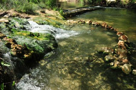 The hot springs of Eleftheres near Kavala