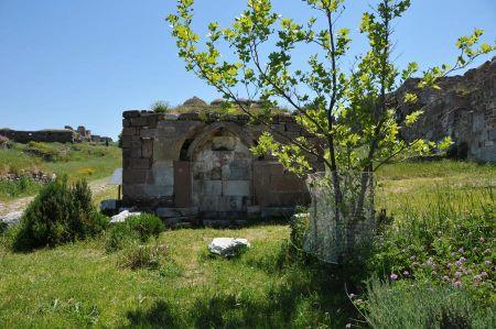 Mytilene auf Lesbos - antike Festungsruine am Hafen von Mitilini