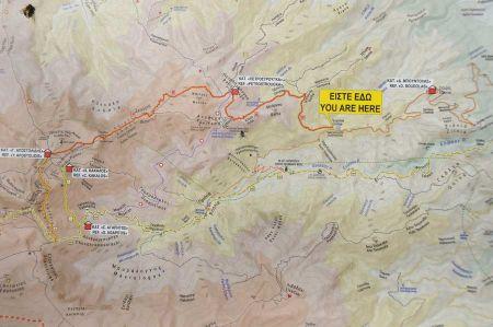 Wanderung über die Route E4 von Litochoro nach Prionia