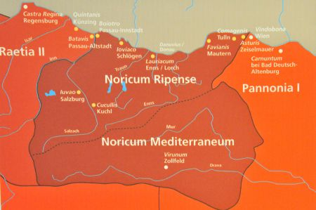 Province of Noricum - trade routes determined the success