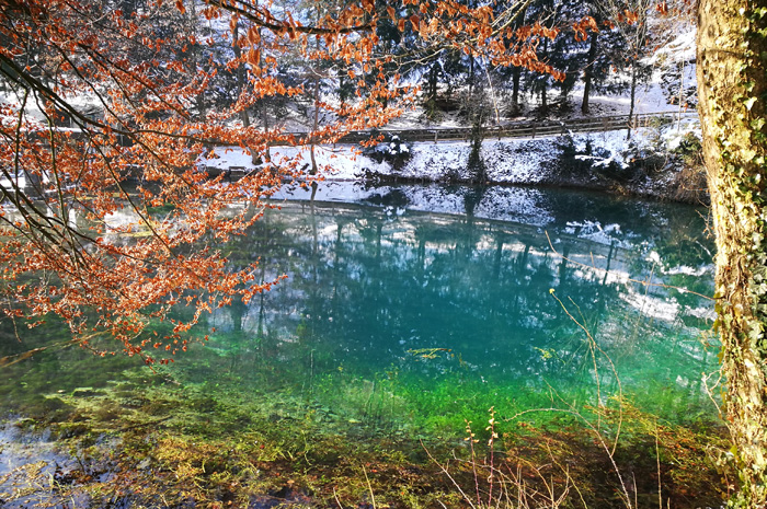 The Blautopf - visible in winter too because of its colors