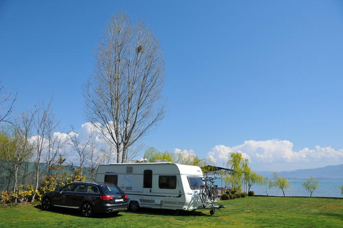 Intermediate stop at Camping Rino in Struga