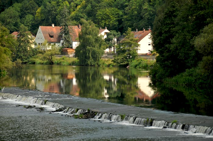 The Naab river in Pielenhofen