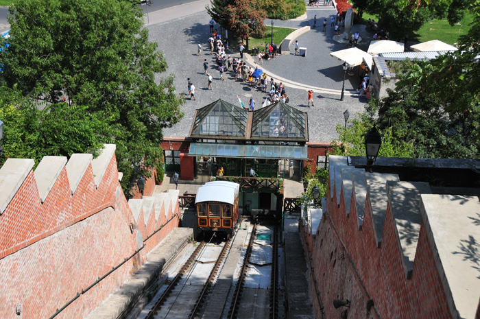 Budavári Sikló - cable car to the Castle Mountain of Budapest