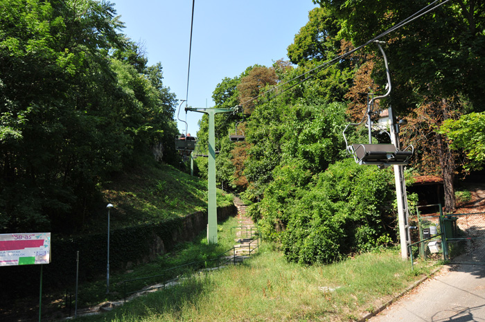 The chairlift near Zugligeti - at the entrance of the campsite