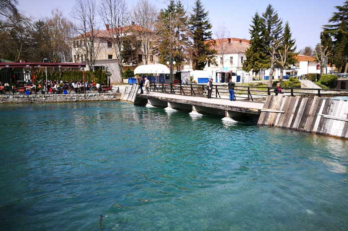From Camping Rino to Struga - bike path well usable
