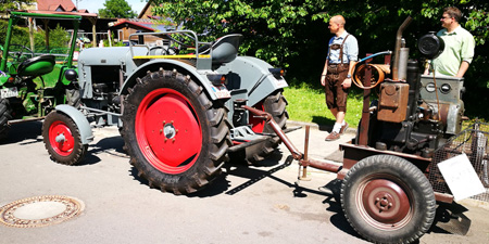 950 years Anhausen - tractors in the center of celebrations