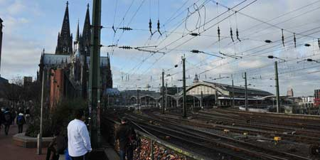 Locks of Love at the Hohenzollern Bridge in Cologne