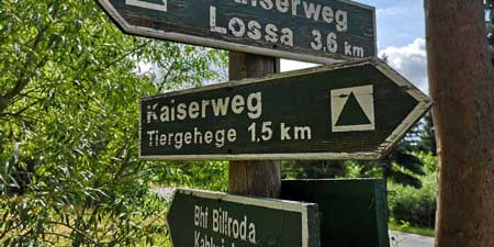 Hike along the Kaiserweg from Billroda to Lossa