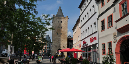 Medieval wall remains, towers and gates in Jena