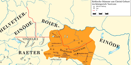 Noricum - a Celtic kingdom in today's Austria