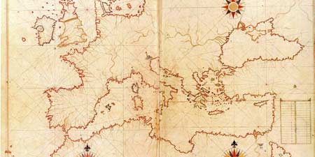 Piri Reis - first Ottoman world map from 500 years ago
