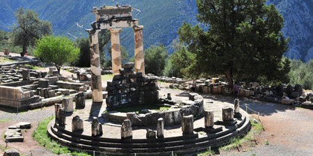 Delphi - the sanctuary of Athena Pronaia