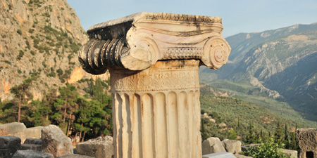 Delphi - the treasure houses along the Sacred Road