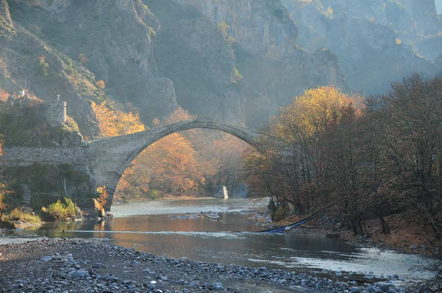 Not just the arch bridge makes Konitsa attractive for campers
