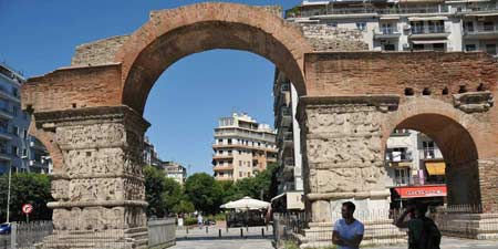 Galerius Arch - late Roman triumphal arch in Thessalonica