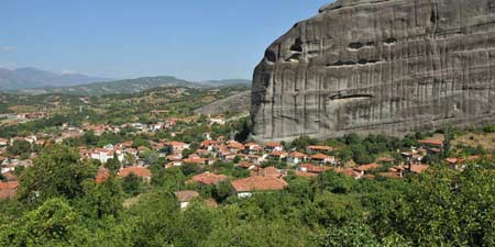 Kastraki / Kalambaka - old city core at Meteora