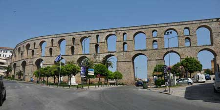 The aqueduct of Kavala - on the Via Egnatia