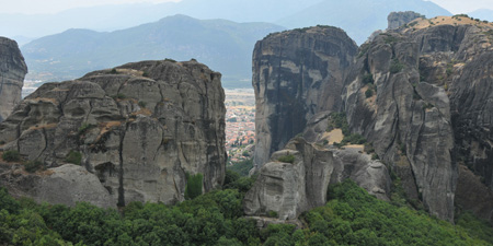 Meteora - climbing in unusual rock geology