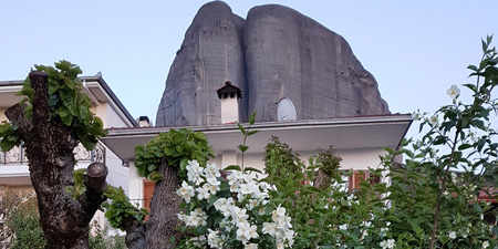 At Meteora Monasteries - Flowering flora in Kastraki