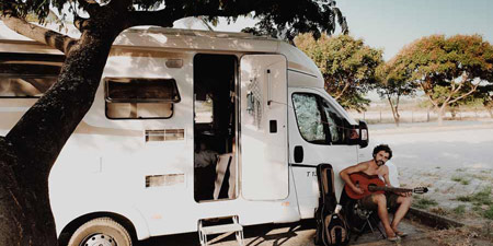 With the motorhome 1.5 years travelling Europe