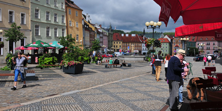 Eger-Cheb - restored pedestrian zone and the time-gate