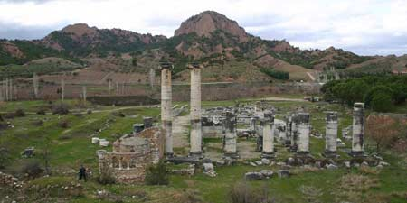 The imposing Temple of Artemis at Sardes