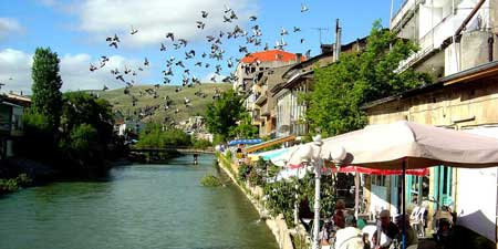 Silkroad town of Bayburt on the Çoruh river