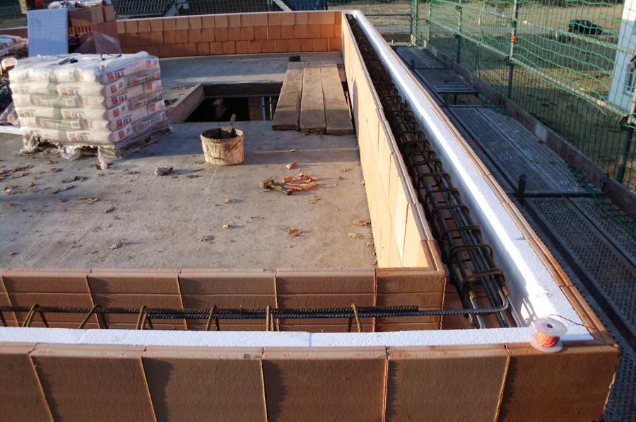 statischer ringbalken und dachkonstruktion. Black Bedroom Furniture Sets. Home Design Ideas
