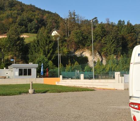 Camper Stop Princeplatz at Visnja Gora in Slovenia