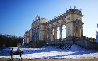 Der Schlosspark und die Gloriette von Schönbrunn