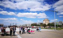 Thessalonica promenade is inviting for Sunday walks