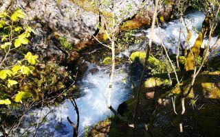 The Waterfalls of Vevcani - park-like area near Struga