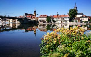 Kitzingen - Cultural Days exhibition on Main Bridge