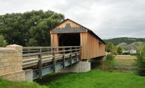 Passing Kunitzer covered bridge to the village of Kunitz