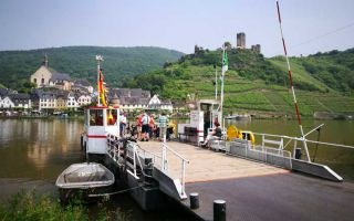 The ferry to the Carmelite Church St. Josef on the Moselle