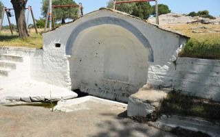 St. Paul's Spring Sithonia - starting point for hiking tours