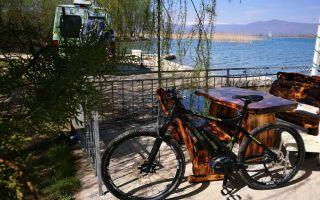 Spring at Lake Ohrid - mountain bike tour to Radolišta