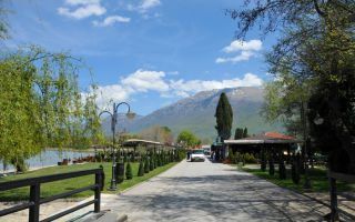 Source of Ohrid Lake near Sveti Naum Monastery