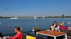 Save - Donau Mündung - Spaziergang Uferpromenade