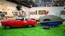 Caravans at the Exhibition Salon - yesterday & today