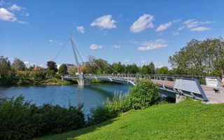 Wels - A walk along the Traun river