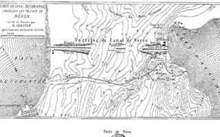 Zur Vorgeschichte des Kanals von Korinth