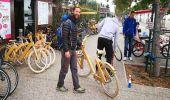 """Holzfahrräder sind """"in"""" - auch in Thessaloniki - wir probieren es!"""