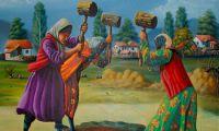 Painter Halit Sahiner living in Gazipasa