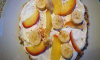 Birnendicksaft – und eine Obstpizza zum Frühstück